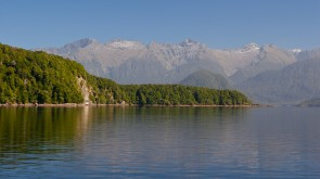 Lake Manapouri in South Island, New Zealand. 